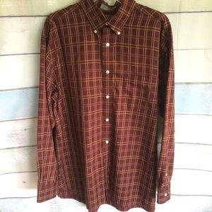 Men's Daniel Cremieux Brown Plaid Shirt